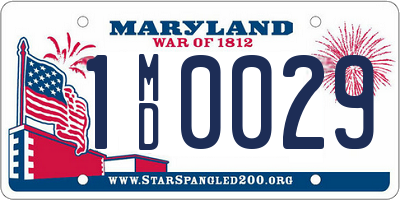 MD license plate 1MD0029
