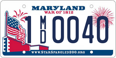 MD license plate 1MD0040