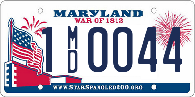 MD license plate 1MD0044