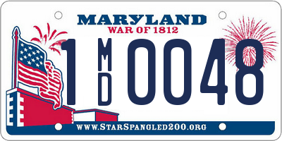 MD license plate 1MD0048