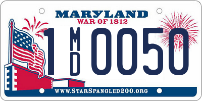 MD license plate 1MD0050
