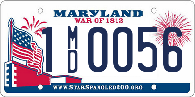 MD license plate 1MD0056