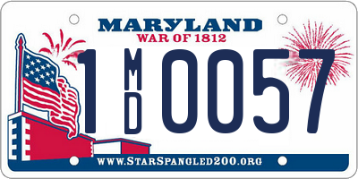 MD license plate 1MD0057