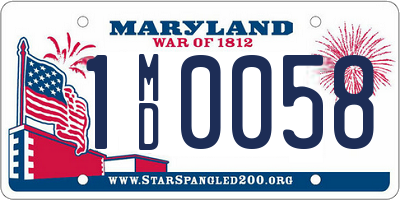 MD license plate 1MD0058
