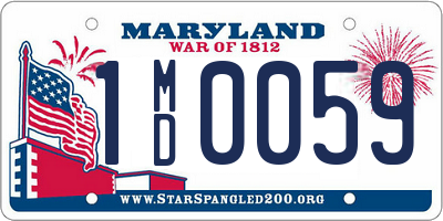 MD license plate 1MD0059