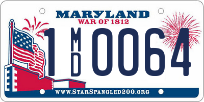 MD license plate 1MD0064