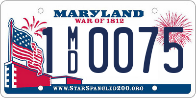 MD license plate 1MD0075