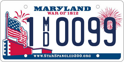 MD license plate 1MD0099