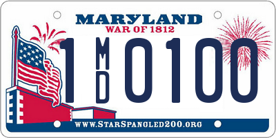 MD license plate 1MD0100