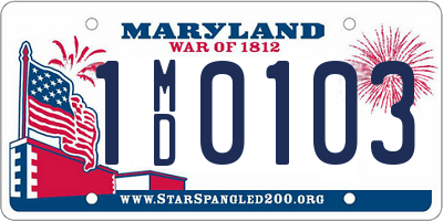MD license plate 1MD0103