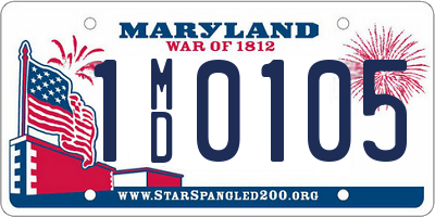 MD license plate 1MD0105