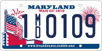 MD license plate 1MD0109