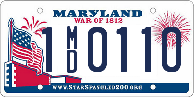 MD license plate 1MD0110