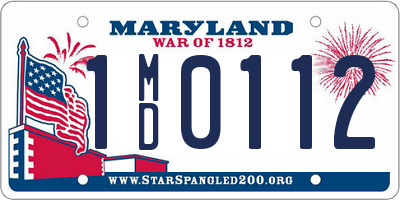 MD license plate 1MD0112