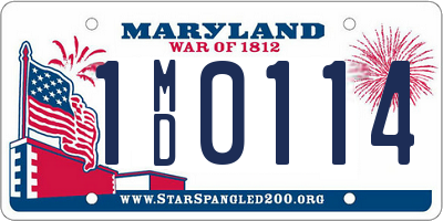 MD license plate 1MD0114