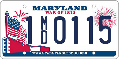 MD license plate 1MD0115