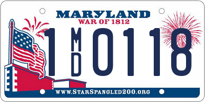 MD license plate 1MD0118