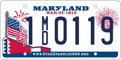 MD license plate 1MD0119