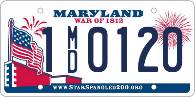 MD license plate 1MD0120