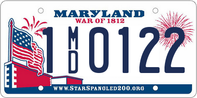 MD license plate 1MD0122