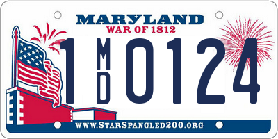MD license plate 1MD0124