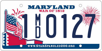 MD license plate 1MD0127