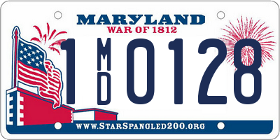MD license plate 1MD0128