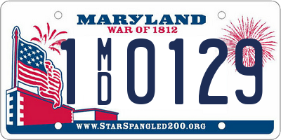 MD license plate 1MD0129