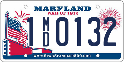 MD license plate 1MD0132