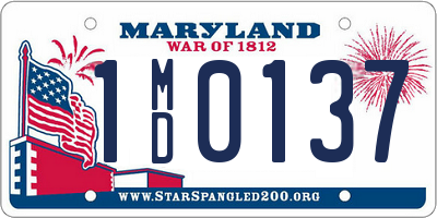 MD license plate 1MD0137