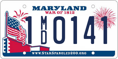 MD license plate 1MD0141