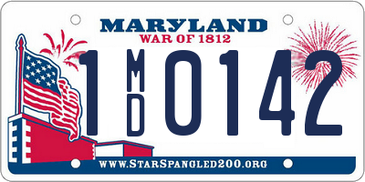 MD license plate 1MD0142