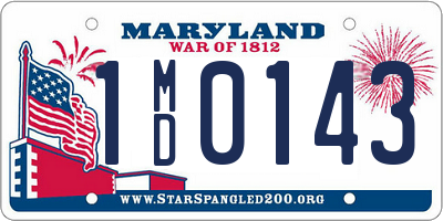 MD license plate 1MD0143
