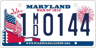 MD license plate 1MD0144