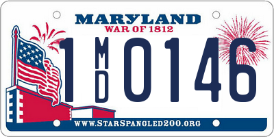 MD license plate 1MD0146