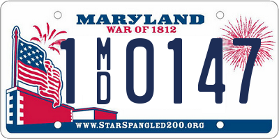 MD license plate 1MD0147
