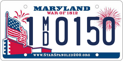 MD license plate 1MD0150