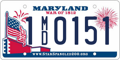 MD license plate 1MD0151