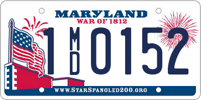 MD license plate 1MD0152