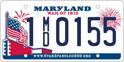 MD license plate 1MD0155