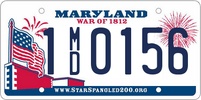 MD license plate 1MD0156