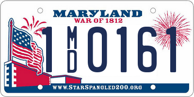 MD license plate 1MD0161