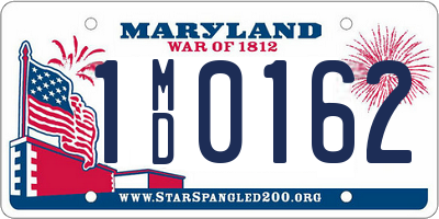 MD license plate 1MD0162
