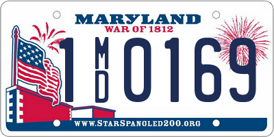 MD license plate 1MD0169