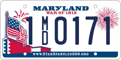 MD license plate 1MD0171