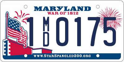 MD license plate 1MD0175