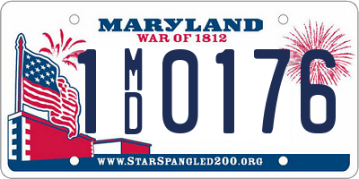 MD license plate 1MD0176