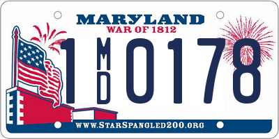 MD license plate 1MD0178