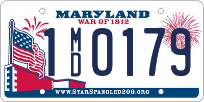 MD license plate 1MD0179