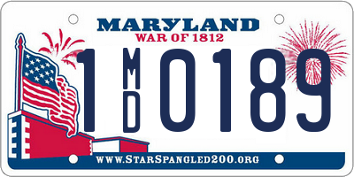MD license plate 1MD0189